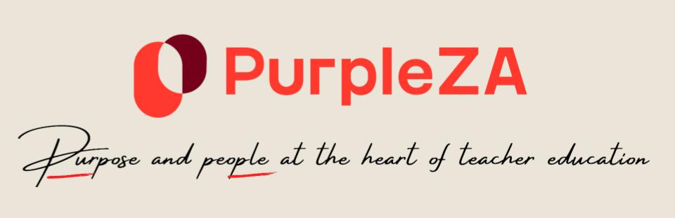 Purple logo with slogan